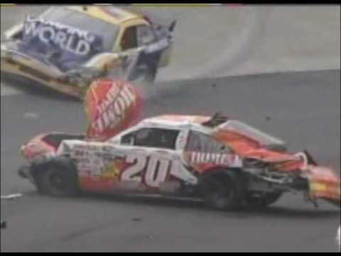 Joey Logano Violent NASCAR Crash Dover 09/27/2009