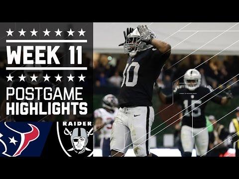 Texans Vs Raiders Nfl International Week 11 Game Highlights
