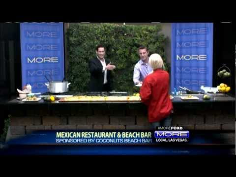 Best Mexican Restaurant in Las Vegas Fox 5 Vegas Coconuts  Food Dining Bar Town Square.wmv