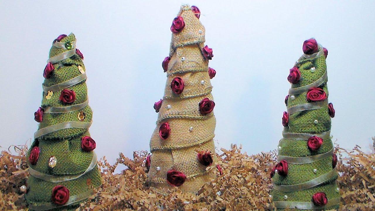 Craft Christmas Trees Burlap