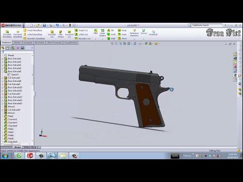 SolidWorks Tutorial : Colt M1911 pistol