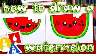 Play this video How To Draw A Cartoon Watermelon