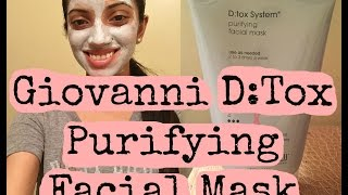 Manda Mask Day: Giovanni D:Tox System Purifying Facial Mask