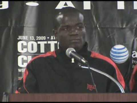 Video Of Joshua Clottey At Press Conference After His Fight With Miguel Cotto video