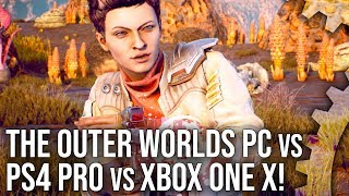 The Outer Worlds: Xbox One X/PS4 Pro vs PC +  Best Settings Analysis!