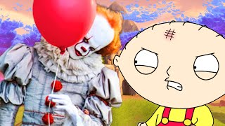 REAL PENNYWISE TAKES STEWIE WHILE PLAYING FORTNITE
