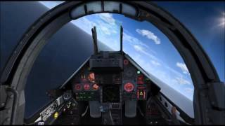 FSX TACPACK one M2000 VS twoF18 Dogfight 1