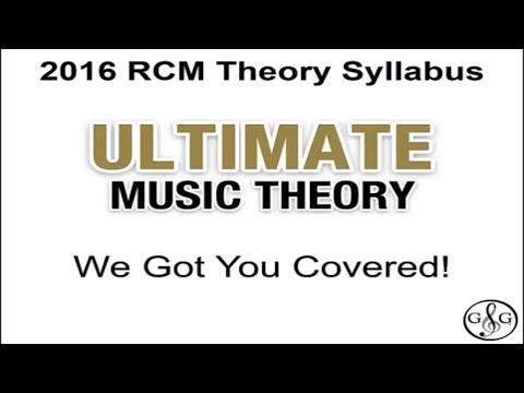 2016 RCM Theory Syllabus - Ultimate Music Theory Supplemental Workbooks