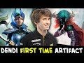 Lagu Dendi FIRST TIME on stream in Artifact Dota card game — WITH VOICE
