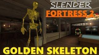 Slender Fortress 2 - Golden Skeleton (April Fool's Boss)