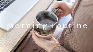 MORNING ROUTINE | working from home
