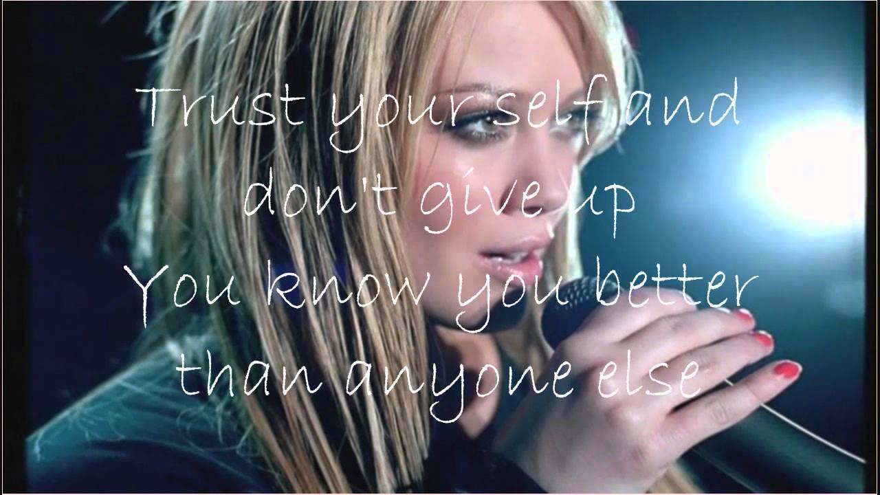 Hilary Duff Fly withc lyrics - YouTube Hilary Duff Lyrics