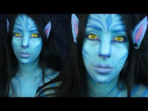 Avatar Face Paint Makeup Tutorial