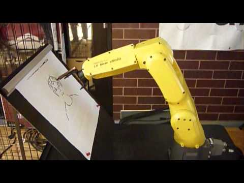 Artemis Vision with FANUC Robot @ Rocky Mountain BEST Robot Competition – Portrait Drawing Demo
