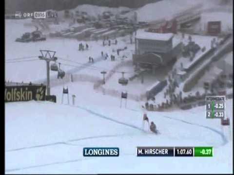 Marcel Hirscher St Moritz Giant Slalom 2014 1e run