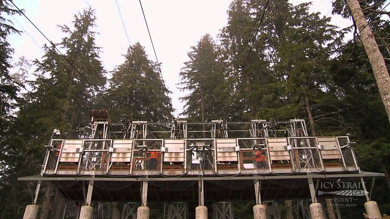 Icy strait point ziprider worlds largest zipline youtube for World s longest video