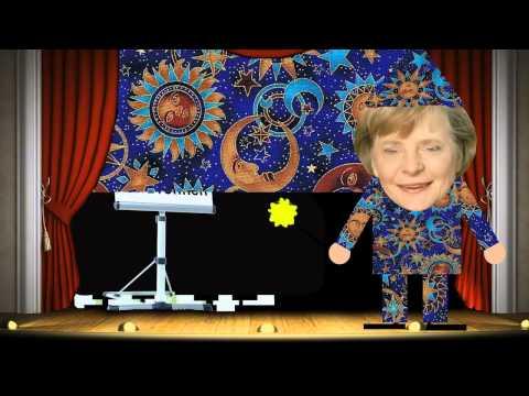 Die Angela Merkel zaubert die Euro(Zins und Zinseszinskrise) Krise weg