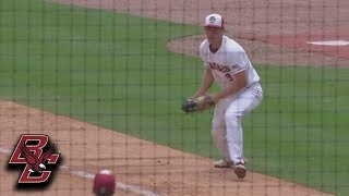 BC's Jack Cunningham Diving Grab At First Base