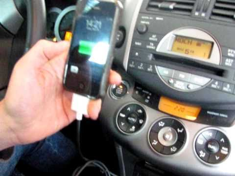 toyota rav4 ipod aux in youtube. Black Bedroom Furniture Sets. Home Design Ideas