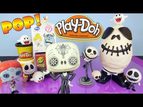 Play Doh The Nightmare Before Christmas Full Funko Toys Set Play Dough Egg Surprise Mystery Minis