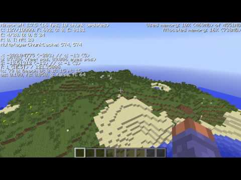 Amazing Minecraft seed 1.7.5 desert mountain, plains biome
