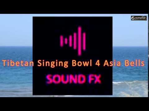 Tibetan Singing Bowl 4 Asia Bells - SOUND EFFECT / Stock Footage