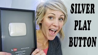 SILVER PLAY BUTTON 100K SUBSCRIBER PLAQUE