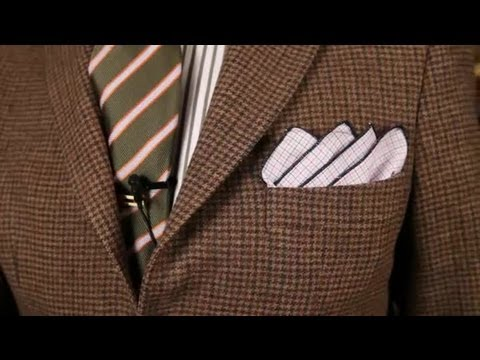 How to Fold a Handkerchief for a Sport Coat : Men s Fashion Tips