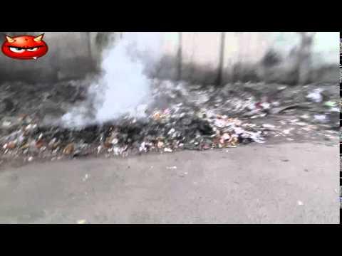 Garbage burned beside road, Dhaka authorities mum