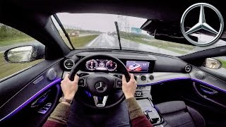 Mercedes Benz E Class 2017 POV Test Drive + AMBIENT LIGHTING