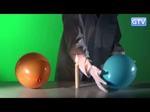 Воздушный шарик и свеча - опыты с теплопроводностью