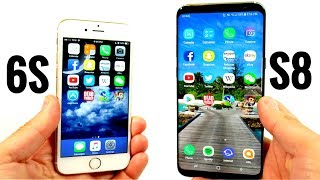 iPhone 6S vs Galaxy S8 Plus! - Speed Test
