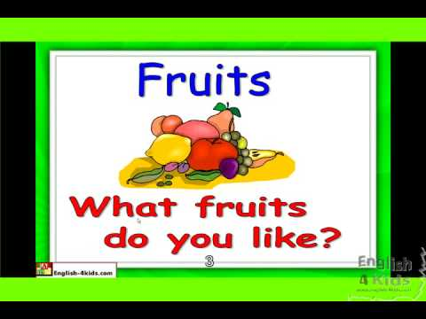 ESL Beginners English Lesson - Names of Fruits