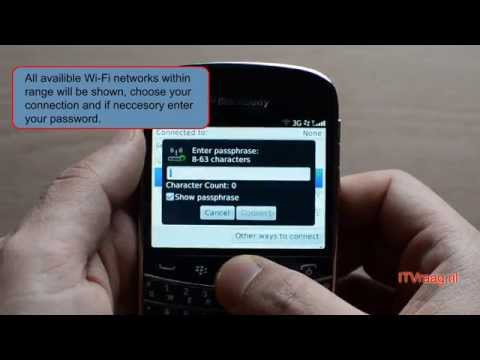 Blackberry Bold 9900: How to connect to WiFi