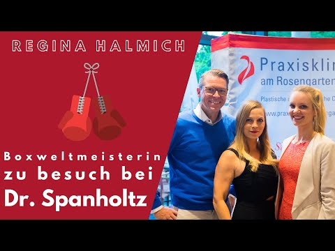 Regina Halmich bei Dr. Timo Spanholtz