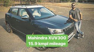 2019 Mahindra XUV300 Diesel - Real World Mileage 15.9 kmpl (Hindi + English)