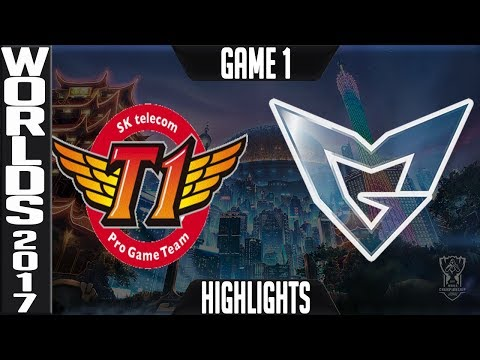 SKT vs SSG Highlights Game 1 Worlds 2017 Final - SK Telecom T1 vs Samsung Galaxy World Championship
