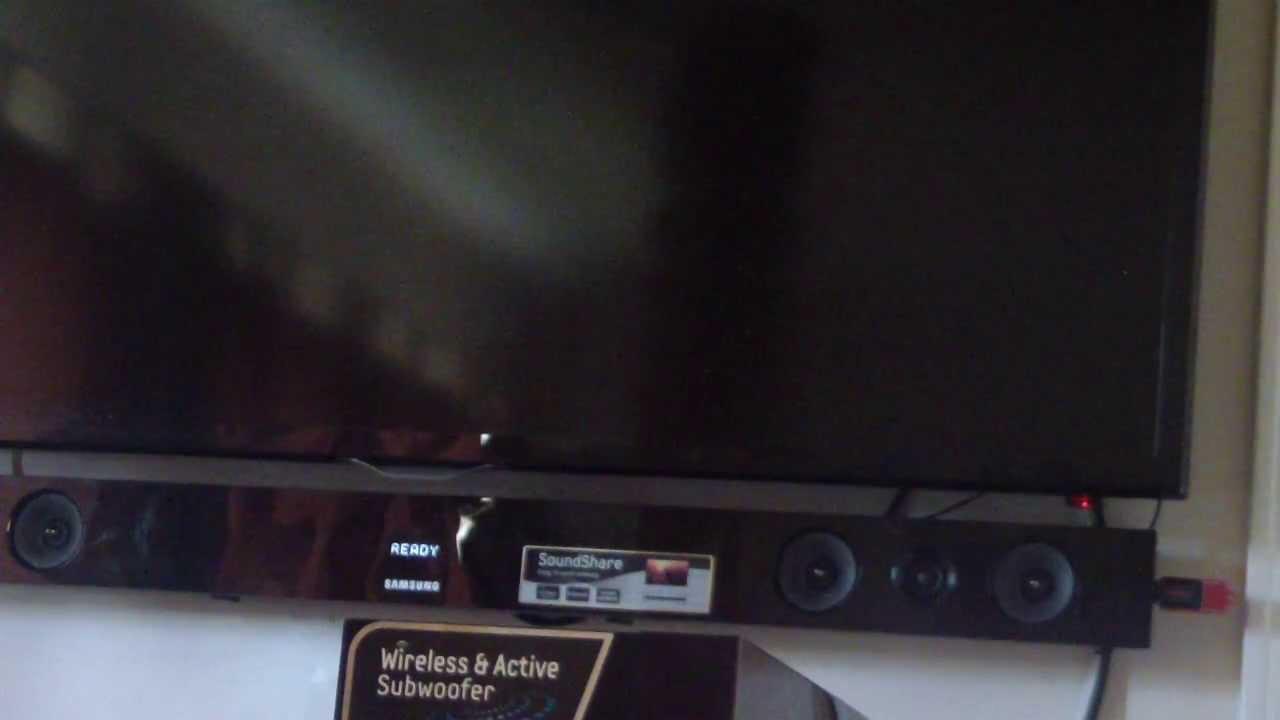 Panasonic sound bar hook up