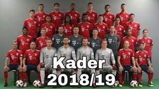 FC Bayern München Kader Saison 2018/19