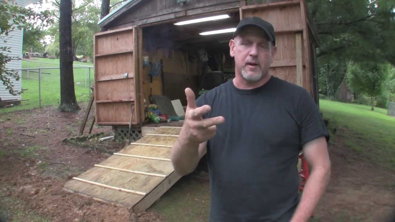 Build A Ramp For A Shed Youtube