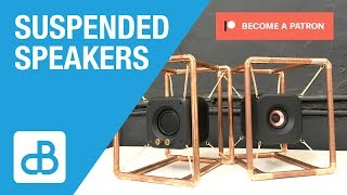 Stereo Speakers Suspended in Copper Pipe Frame - by SoundBlab