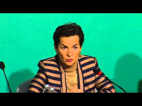 Christiana Figueres briefed the media on the outcomes of the conference.