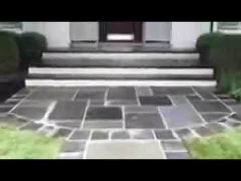 Hilltop Design Landscaping | Bluestone Front Walk and Stairs | Chatham NJ