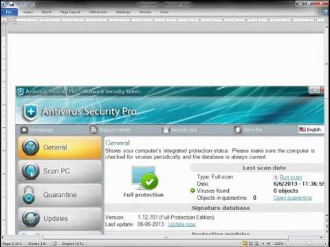 ELIMINAR ANTIVIRUS SECURITY PRO