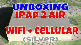 Unboxing iPad Air 2 16Gb WiFi + Cellular (silver) [iPhone 6sPlus]