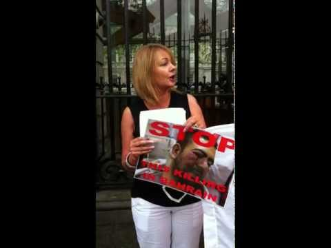 Bahrain Protest in solidarity with Prisoners of Conscience outside Dail Eireann, Dublin, IRELAND