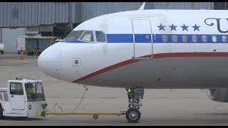 "(HD) United Airlines Airbus A320 ""Friend Ship"" Retro Livery Minneapolis St. Paul Int'l Airport MSP"