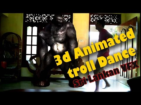 sri lankan visual effects vfx Dance with 3d animated troll