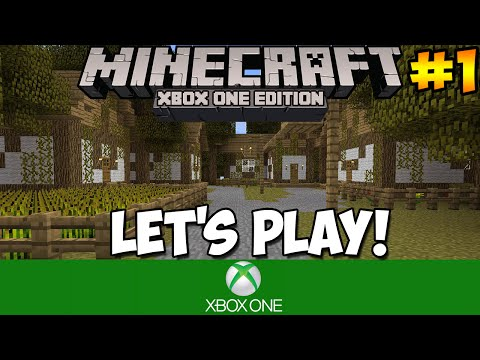 Minecraft Xbox One: Lets Play Starving the First Night Part 1
