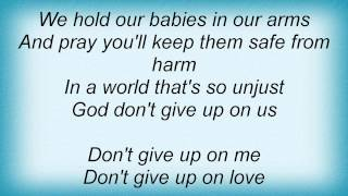 Watch Jessica Andrews God Dont Give Up On Us video
